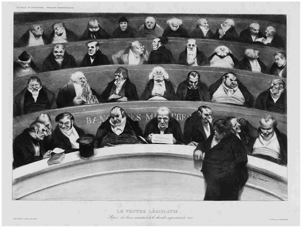 O ventre legislativo, de Honoré Daumier